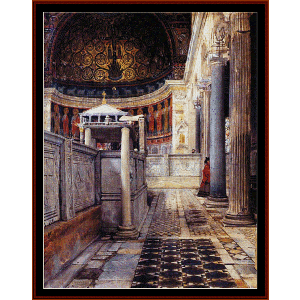 church of san clemente rome - alma tadema cross stitch pattern by cross stitch collectibles