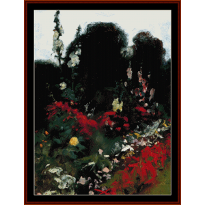 corner of a garden - sargent cross stitch pattern by cross stitch collectibles