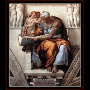 Cumaen Sibyl - Michelangelo cross stitch pattern by Cross Stitch Collectibles | Crafting | Cross-Stitch | Wall Hangings