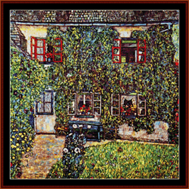 das haus on guardaboschi - klimt cross stitch pattern by cross stitch collectibles