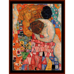 death and life - klimt cross stitch pattern by cross stitch collectibles