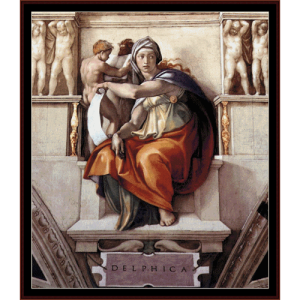 Delphic Sibyl - Michelangelo cross stitch pattern by Cross Stitch Collectibles | Crafting | Cross-Stitch | Wall Hangings