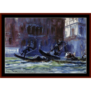 festa della regatta - sargent cross stitch pattern by cross stitch collectibles