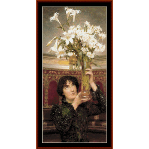 flag of truce - alma tadema cross stitch pattern by cross stitch collectibles