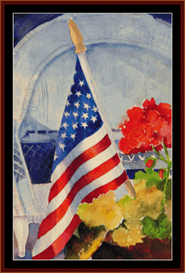 Fourth of July Holiday cross stitch pattern by Cross Stitch Collectibles | Crafting | Cross-Stitch | Wall Hangings