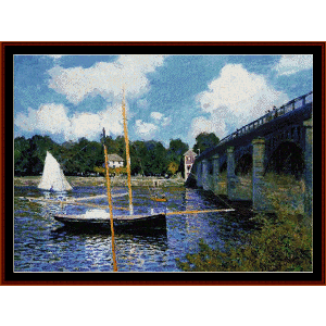 highway - monet cross stitch pattern by cross stitch collectibles