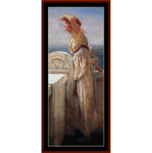 hopeful - alma tadema cross stitch pattern by cross stitch collectibles