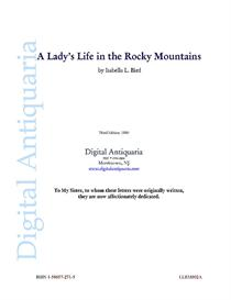 a lady's life in the rocky mountains (1880)
