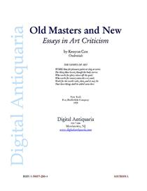 Old Masters and New - Essays in Art Criticism (1905) | eBooks | History