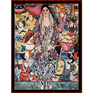 fredericke maria beer - klimt cross stitch pattern by cross stitch collectibles