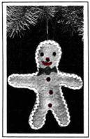 gingerbread man christmas ornament pattern