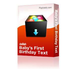 baby's first birthday text
