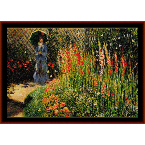 gladioli - monet cross stitch pattern by cross stitch collectibles
