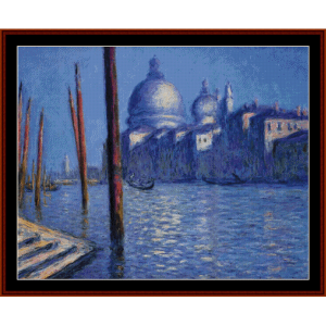 grand canal ii - monet cross stitch pattern by cross stitch collectibles
