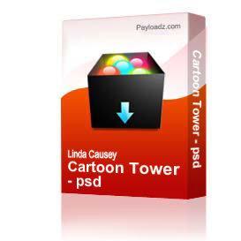 cartoon tower - psd