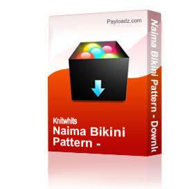 naima bikini pattern - download