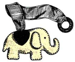 elephant bookmark pattern