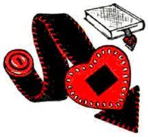 Heart Bookmark Instructions | eBooks | Arts and Crafts