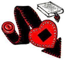 heart bookmark instructions