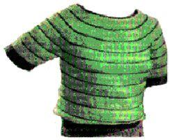 boat neck blouse crochet pattern