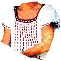 peasant blouse crochet pattern