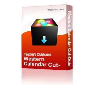 western calendar cut-outs