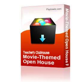 movie-themed open house powerpoint template black