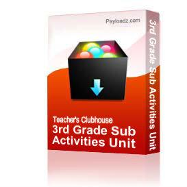 3rd Grade Sub Activities Unit | Other Files | Arts and Crafts
