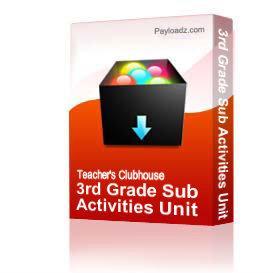 3rd grade sub activities unit