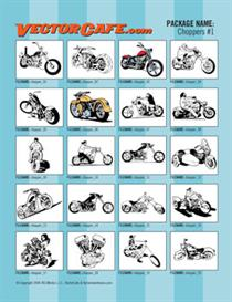 choppers vector clip art #1