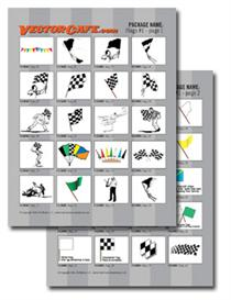 racing flags vector clip art #1