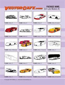 dirt late models vector clip art #1