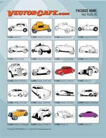 hot rods vector clip art #1
