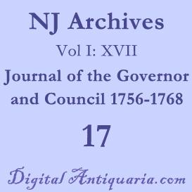 NJ Archives (I:XVII) Journal of the Governor and Council 1756-1768 | eBooks | History