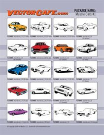 muscle car vector clip art #1