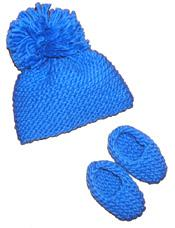 #02 chunky baby booties and hat pdf pattern from sweaterbabe.com