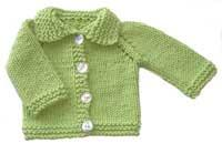 #15 chunky cotton baby cardigan pdf pattern from sweaterbabe.com