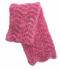#23 mohair lace scarf pdf pattern from sweaterbabe.com