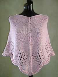 #28 scalloped edge poncho pdf pattern from sweaterbabe.com