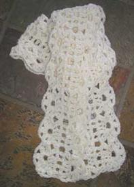 #32 lush crocheted lace scarf pdf pattern from sweaterbabe.com