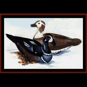 harlequin ducks - wildlife cross stitch pattern by cross stitch collectibles