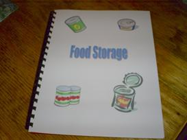 one year food storage menu