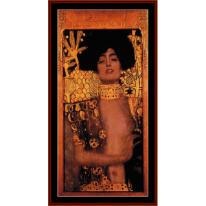 judith - klimt cross stitch pattern by cross stitch collectibles