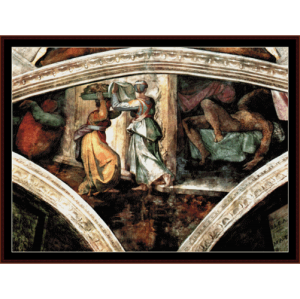 judith and holofernes - michelangelo cross stitch pattern by cross stitch collectibles