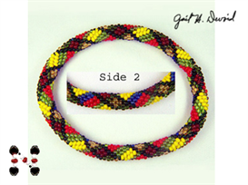 macmillan scottish plaid bead crochet bracelet
