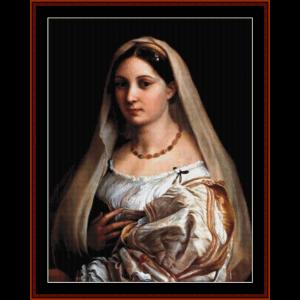 la donna velata - raphael cross stitch pattern by cross stitch collectibles