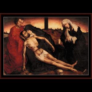 lamentation - van der weyden cross stitch pattern by cross stitch collectibles