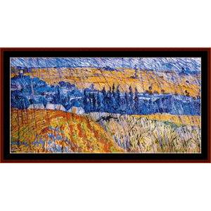 Landscape in the Rain - Van Gogh cross stitch pattern by Cross Stitch Collectibles | Crafting | Cross-Stitch | Wall Hangings