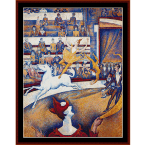 le cirque - seurat cross stitch pattern by cross stitch collectibles