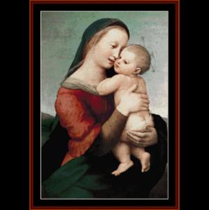 Madonna Tempi - Raphael cross stitch pattern by Cross Stitch Collectibles | Crafting | Cross-Stitch | Wall Hangings